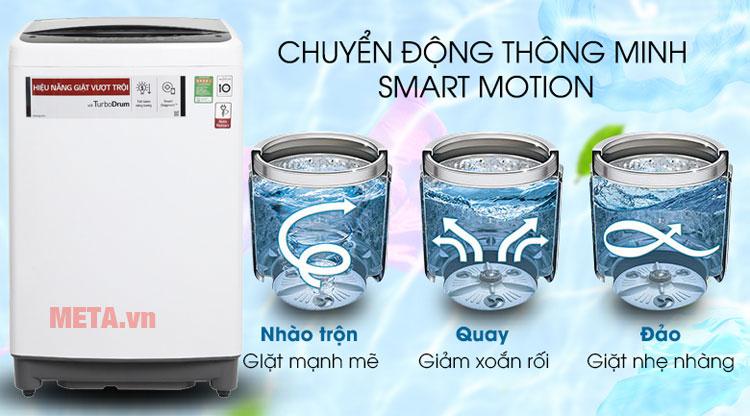 Máy giặt LG Inverter T2395VS2 được trang bị tính năng Smart Motion