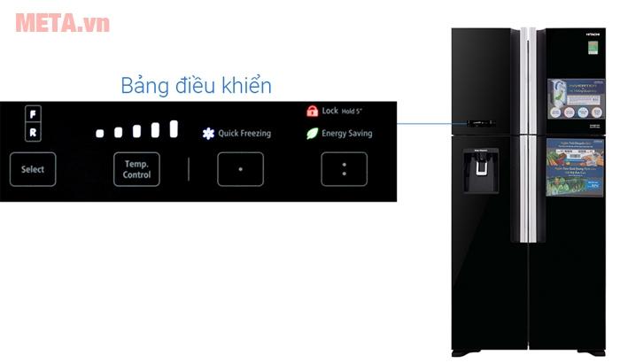 Tủ lạnh Hitachi bảng điều khiển bên ngoài dễ dàng sử dụng