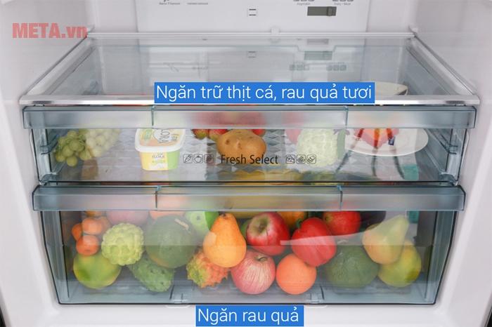 Ngăn trữ với độ ẩm cao và giữ nguyên chất dinh dưỡng