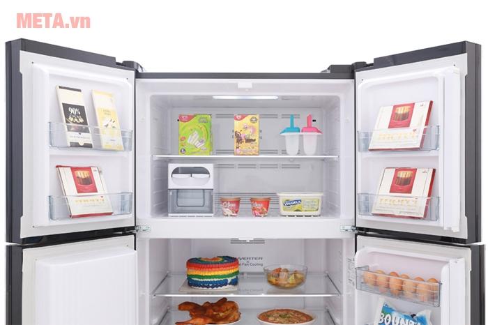 Ngăn đông 144 lít lưu trữ nhiều thực phẩm đông lạnh