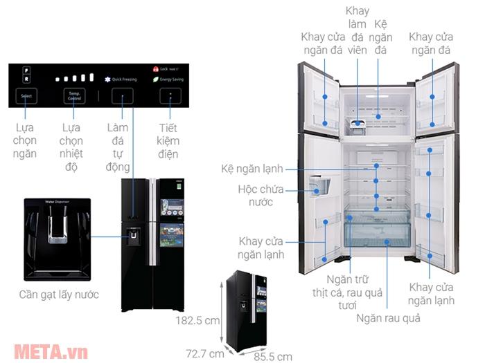 Các bộ phận của tủ lạnh