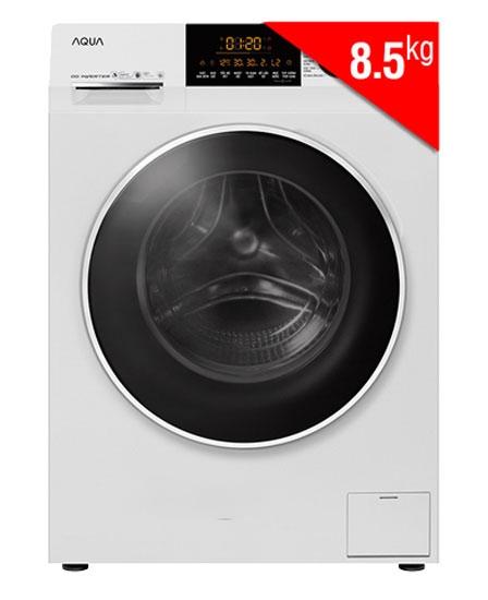 Máy giặt cửa trước Inverter AQUA AQD-D850A.N màu trắng.