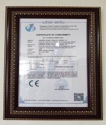 Chứng Nhận CE theo tiêu chuẩn chất lượng Châu Âu.