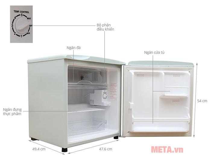 Hình ảnh các bộ phận của tủ lạnh