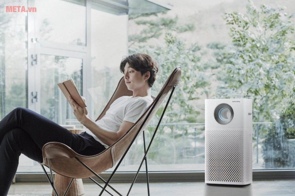 Máy lọc không khí có tính năng hút mùi và lọc sạch không khí cho gia đình bạn.