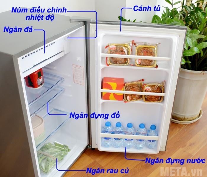 Cấu tạo tủ lạnh Funiki FR-91CD
