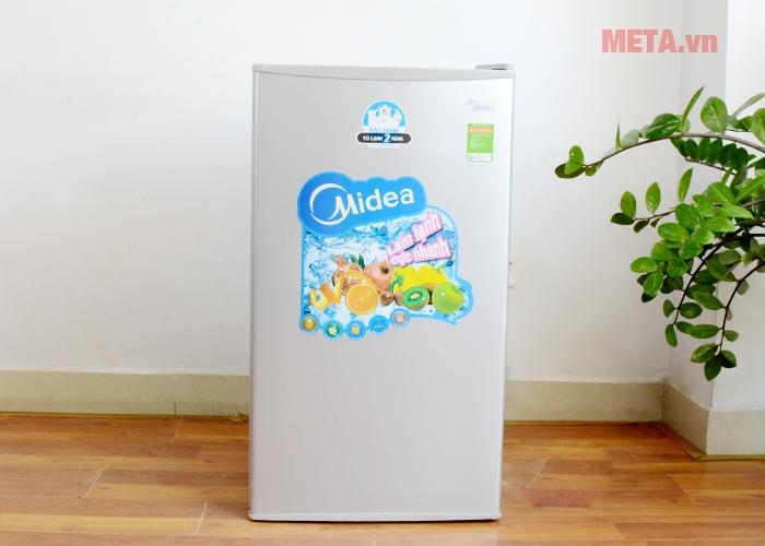 Tủ lạnh mini 98 lít Midea HS-122SN có kiểu dáng nhỏ gọn, hiện đại.