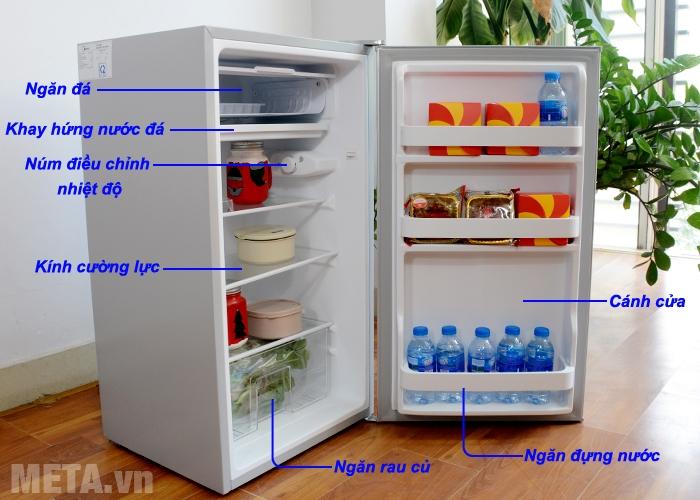Cấu tạo tủ lạnh Midea