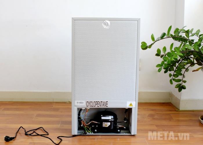 Mặt sau tủ lạnh mini Midea HS-122SN