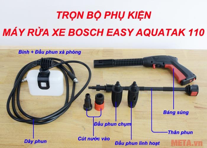 Phụ kiện đi kèm máy rửa xe Bosch Easy Aquatak 110