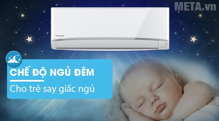 Điều hòa Panasonic 1.5 HP CU/CS-YZ12UKH-8 có chế độ ngủ giúp máy hoạt động êm ái
