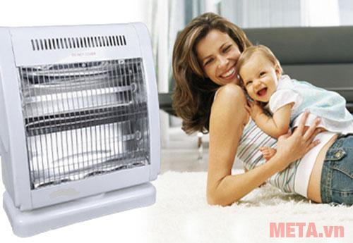 Quạt sưởi là sản phẩm làm ấm an toàn cho các bé