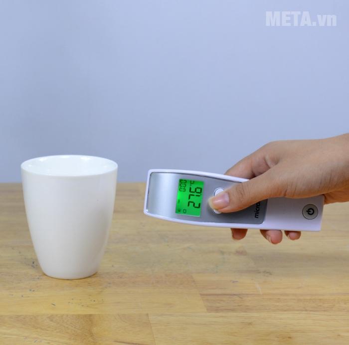 Nhiệt kế đo trán hồng ngoại Microlife FR1MF1 có thêm chức năng đo vật thể