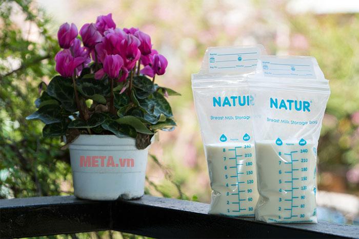 Sử dụng túi trữ sữa để tiết kiệm tối đa không gian tủ