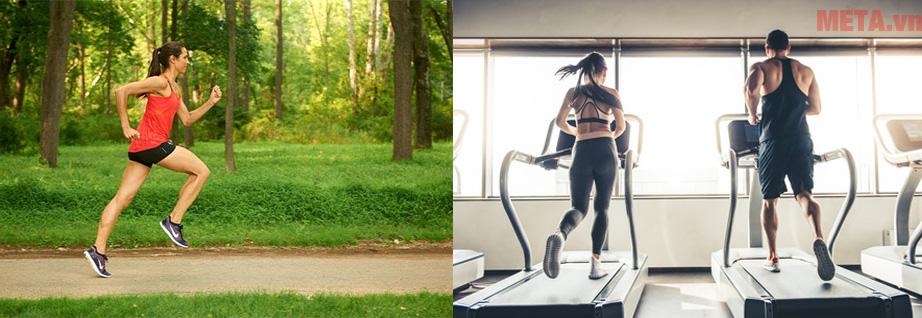 Để giảm cân hiệu quả hãy vận động và chạy bộ bằng máy và chạy thường