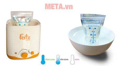 Sử dụng máy hâm sữa để rã đông