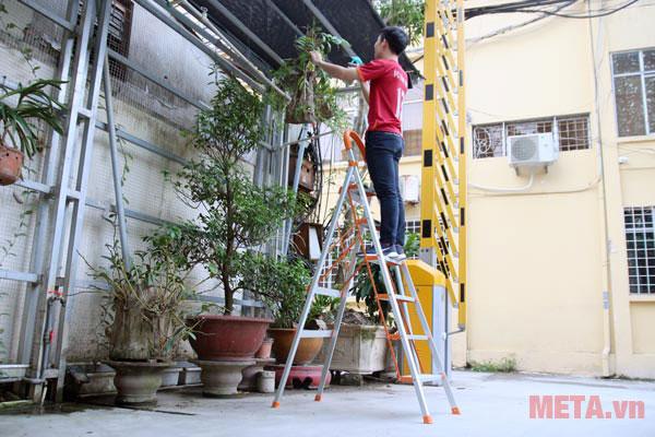 Sử dụng thang ghế đảm bảo an toàn