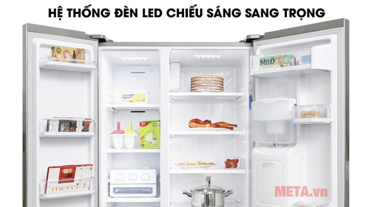 Hệ thống đèn led chiếu sáng tủ lạnh