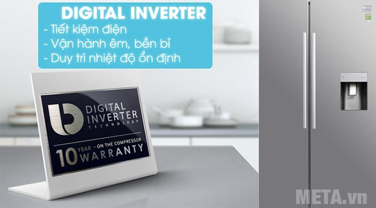 Tủ lạnh RS52N3303SL/SV sở hữu công nghệ Inverter tiết kiệm điện năng