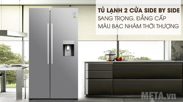 Tủ lạnh side by side Samsung thiết kế sang trọng