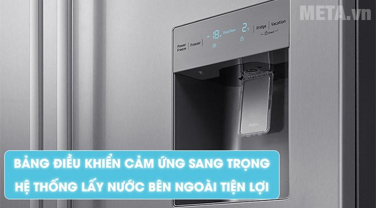 Tủ lạnh Samsung có vòi lấy nước bên ngoài