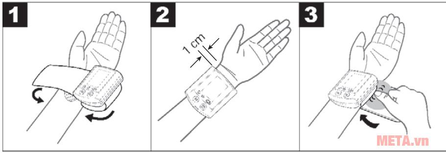 Cách quấn máy để đo huyết áp