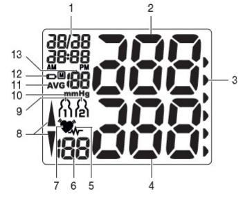 Màn hình của máy đo theo chỉ dẫn