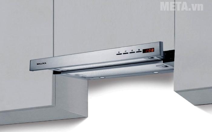 Máy hút mùi Malloca H204.7 có bảng điều khiển điện tử hiện đại