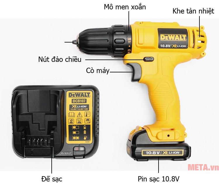 Máy khoan vặn vít dùng pin DeWalt DCD700C1