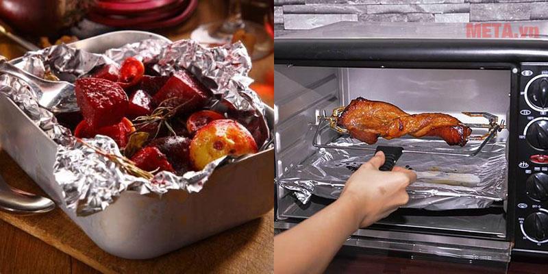 Giấy bạc có thể dùng trong lò nướng