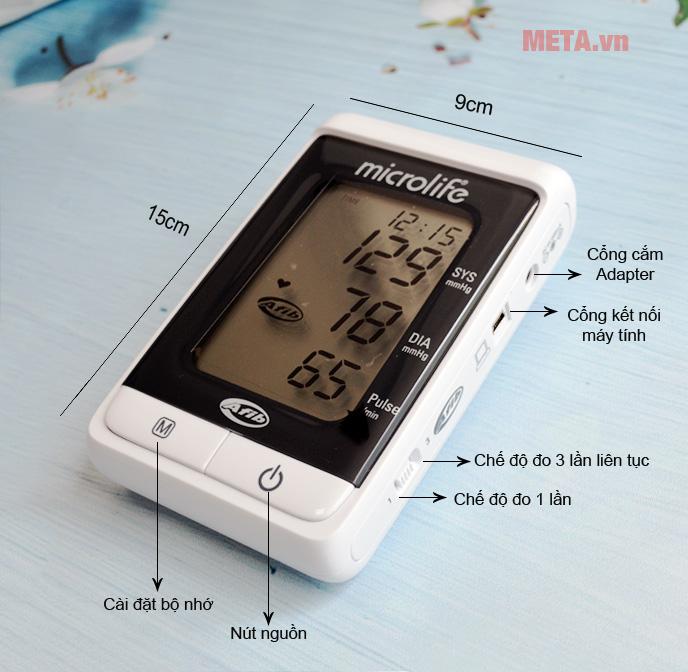 Máy đo huyết áp bắp tay Microlife BP A200 có túi đeo.