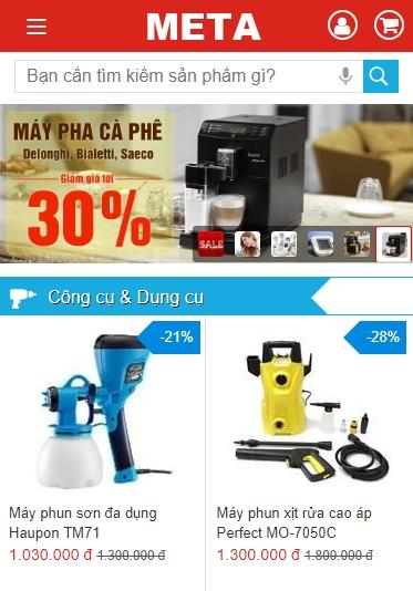 META.vn - Website bán hàng Thể thao, gia dụng, thiết bị y tế chăm sóc sức khỏe chính hãng, nguồn gốc xuất xứ rõ ràng