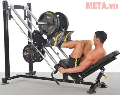 Máy đạp chân ít áp lực hơn so với việc Squat