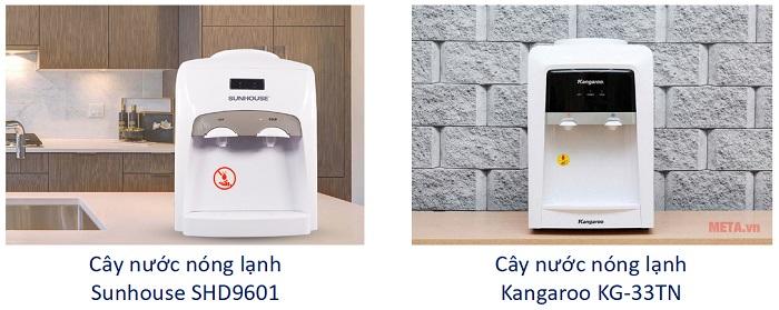 Cây nước nóng lạnh Sunhouse SHD9601 và Cây nước nóng lạnh Kangaroo KG-33TN