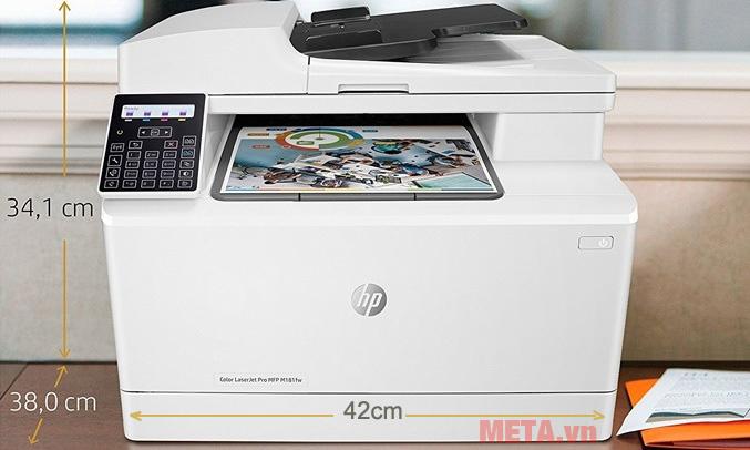 Kích thước sản phẩm máy in đa năng HP