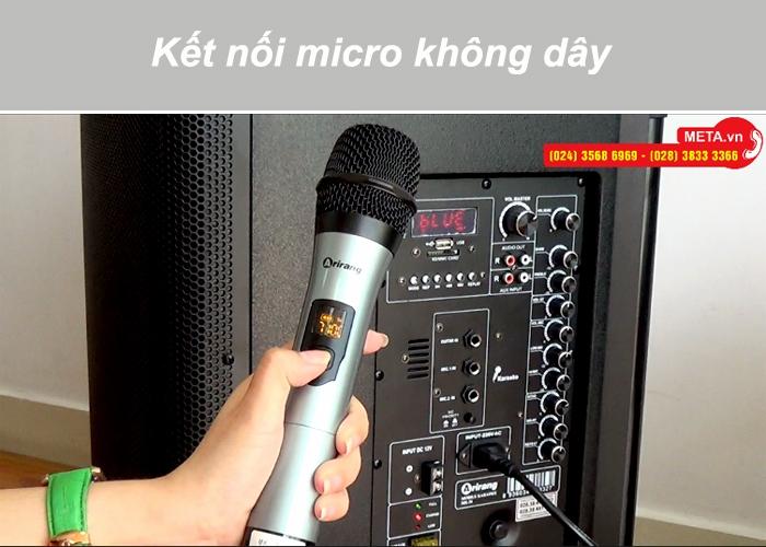 Micro không dây kết nối tự động với loa