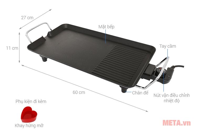 Bếp nướng Kangaroo KG699 có thiết kế và cấu tạo đơn giản