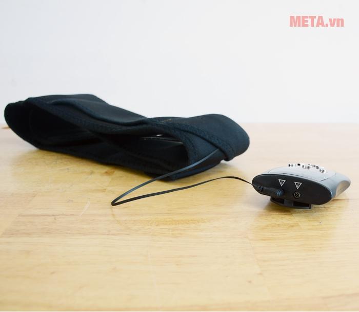 Đai massage bụng kết nối với bảng điều khiển