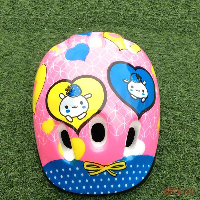Mũ bảo hiểm Patin Cougar phù hợp với vóc dáng đầu của các bé từ 4 - 9 tuổi