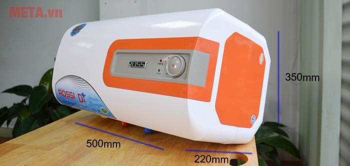 Kích thước bình nóng lạnh Rossi R20DI