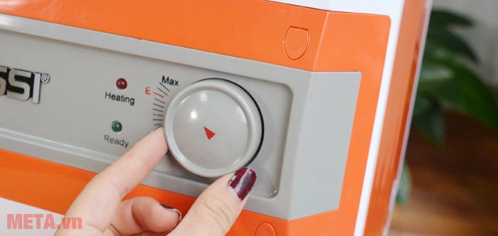 Bình nóng lạnh với nút điều chỉnh nhiệt độ tiện lợi