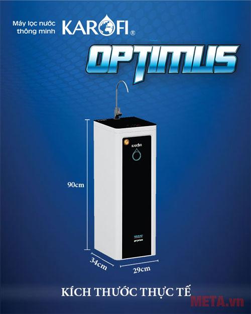 Kích thước máy lọc nước  Đặc điểm nổi bật của máy lọc nước Karofi Optimus 9 lõi lọc