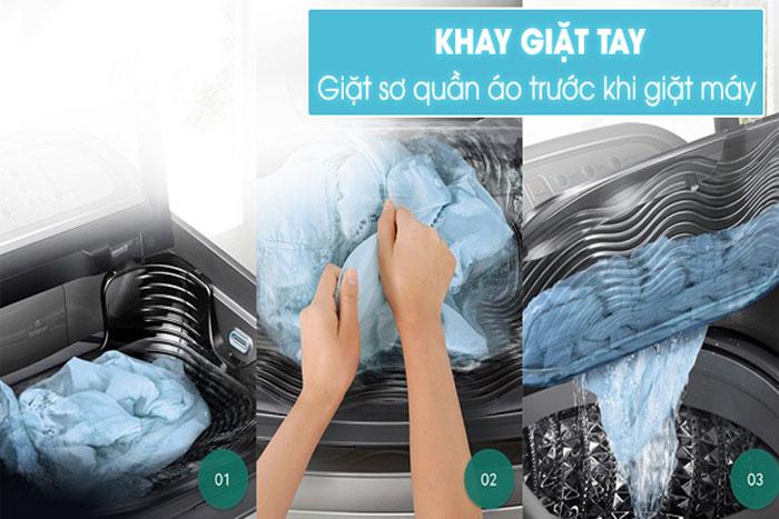 Máy giặt lồng đứng Samsung WA85J5712SG/SV 8,5kg có khay giặt bằng tay