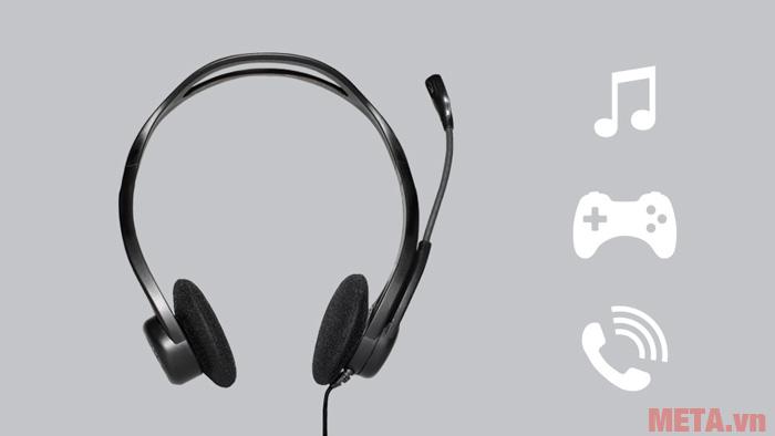 Hình ảnh tai nghe USB Logitech H370