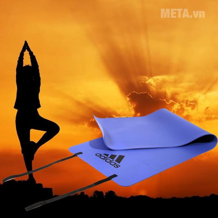 Thảm yoga Adidas ADMT-12234PL chống trơn trượt