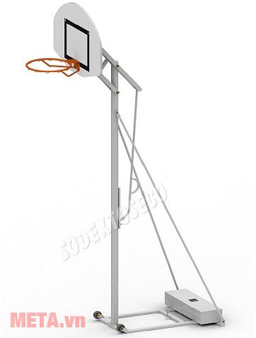 Trụ bóng rổ điều chỉnh độ cao BS827 (S14627) có kèm bảng rổ, vành rổ và lưới