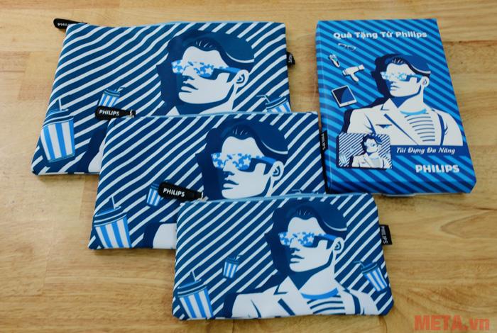 Hình ảnh bộ 3 túi vải nam Philips