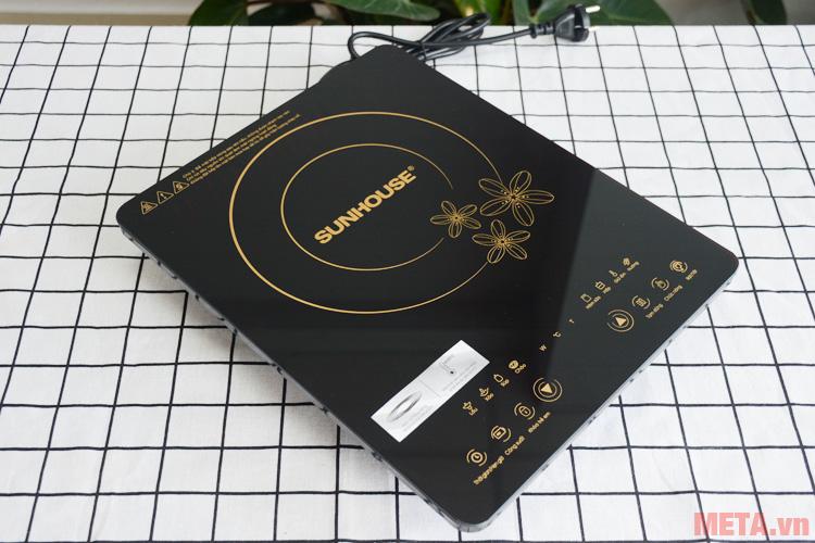 Bếp từ cảm ứng Sunhouse SHD6800 có mặt kính chịu lực siêu bền