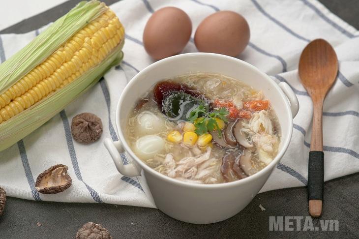 Thành phẩm món súp cua