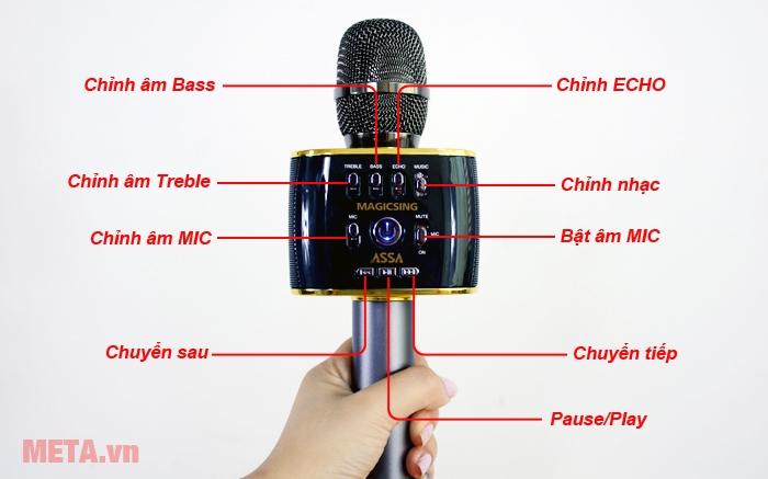 Các điều chỉnh Treble, Bass, Echo cần thiết để bạn tận hưởng âm thanh tối đa